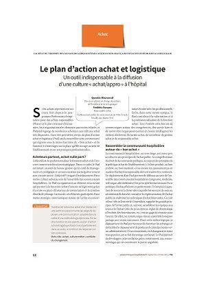Le plan d'action achat et logistique : un outil indispensable à la diffusion d'une culture « achat/appro » à l'hôpital