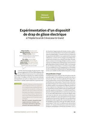 Expérimentation d'un dispositif de drap de glisse électrique à l'hôpital local de Crèvecœur-le-Grand