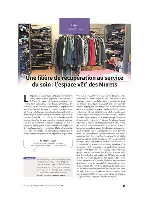 Une filière de récupération au service du soin : l'espace vêt' des Murets