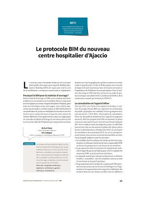 Le protocole BIM du nouveau centre hospitalier d'Ajaccio