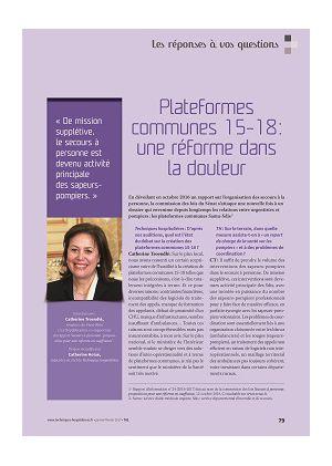 [accès libre] Les réponses à vos questions - Catherine Troendlé Plateformes communes 15-18 : une réforme dans la douleur