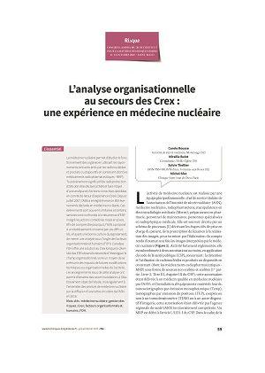 L'analyse organisationnelle au secours des Crex : une expérience en médecine nucléaire
