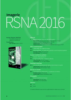 Imagerie - RSNA 2016 - Le dossier complet