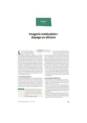 Imagerie moléculaire : dopage au silicium
