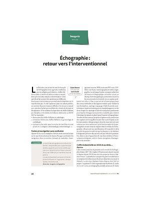 Échographie : retour vers l'interventionnel