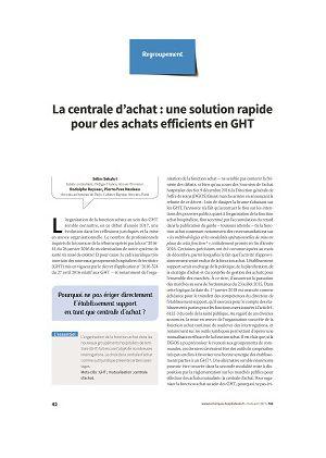 La centrale d'achat : une solution immédiate pour une organisation efficiente des achats en GHT