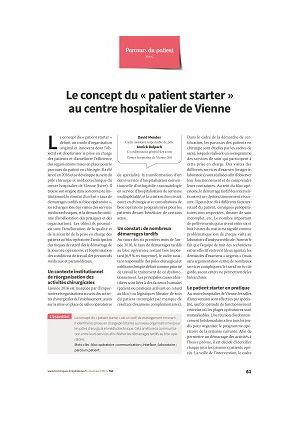Le concept du « patient starter » au centre hospitalier de Vienne
