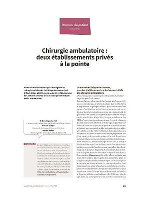 Chirurgie ambulatoire : deux établissements privés à la pointe