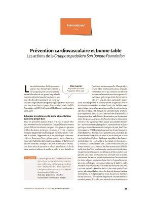 Prévention cardiovasculaire et bonne table : les actions de la Gruppo ospedaliero San Donato Foundation