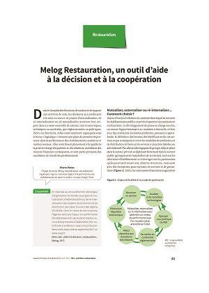 Melog Restauration, un outil d'aide à la décision et à la coopération