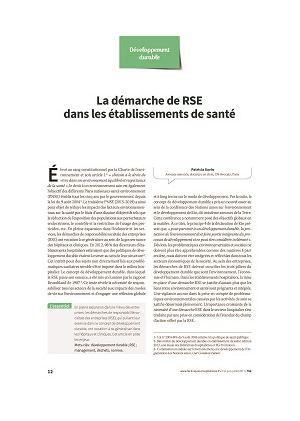 * La démarche de RSE dans les établissements de santé