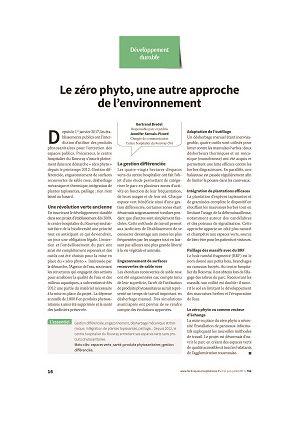 Le zéro phyto, une autre approche de l'environnement