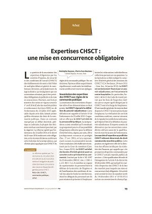 Expertise CHSCT : une mise en concurrence obligatoire