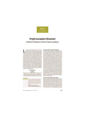 Projet européen Streamer : modéliser l'hôpital pour réduire l'impact énergétique
