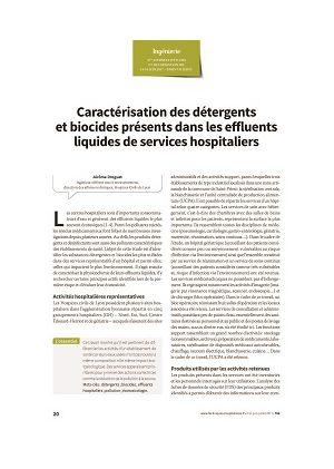 Caractérisation des détergents et biocides présents dans les effluents liquides de services hospitaliers