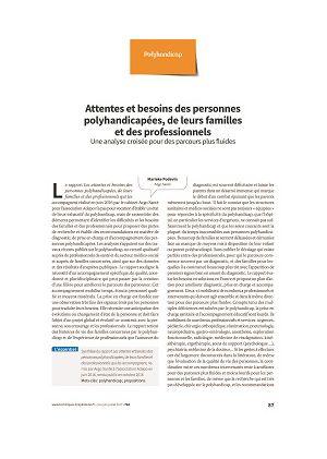 Attentes et besoins des personnes polyhandicapées, de leurs familles et des professionnels : une analyse croisée pour des parcours plus fluides