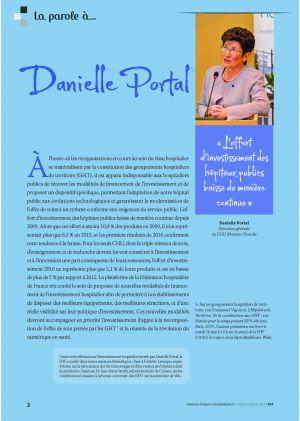 * La parole à Danielle Portal « L'effort d'investissement des hôpitaux publics baisse de manière continue »