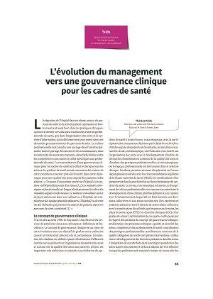 L'évolution du management vers une gouvernance clinique pour les cadres de santé
