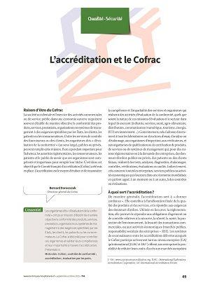 L'accréditation et le Cofrac