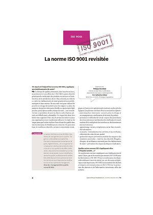 La norme ISO 9001 revisitée