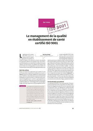 Le management de la qualité en établissement de santé certifié ISO 9001