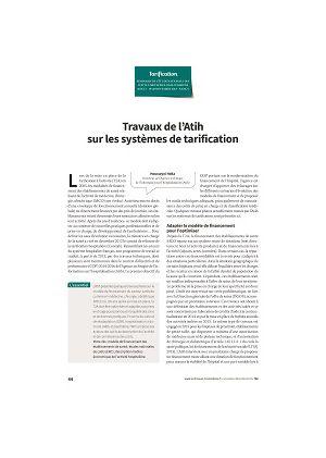 Travaux de l'Atih sur les systèmes de tarification