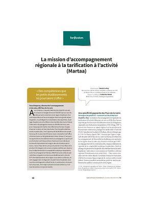 La mission d'accompagnement régionale à la tarification à l'activité (Martaa)