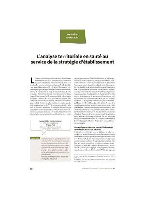 L'analyse territoriale en santé au service de la stratégie d'établissement