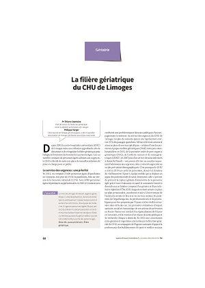 La filière gériatrique du CHU de Limoges