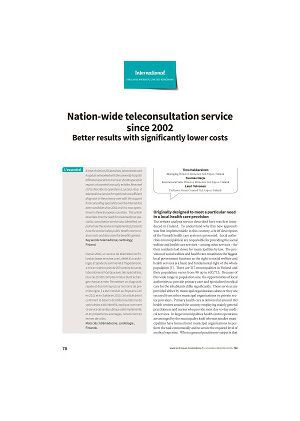 Nation-wide teleconsultation service since 2002. Better results with significantly lower costs