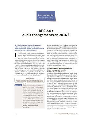 DPC 2.0 : quels changements en 2016 ?