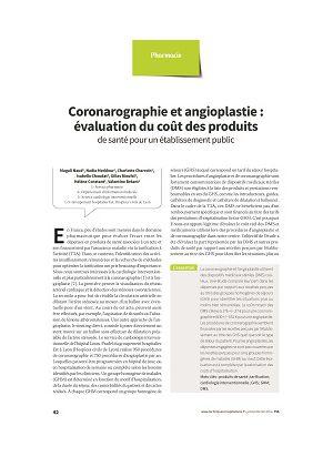 Coronarographie et angioplastie : évaluation du coût des produits de santé pour un établissement public