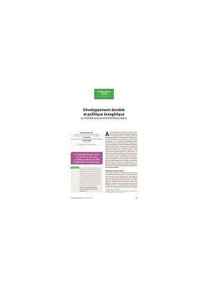 Développement durable et politique énergétique au CHU Mohammed-VI de Marrakech, Maroc