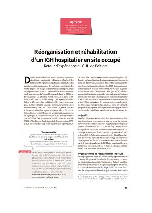 Réorganisation et réhabilitation d'un IGH hospitalier en site occupé. Retour d'expérience au CHU de Poitiers