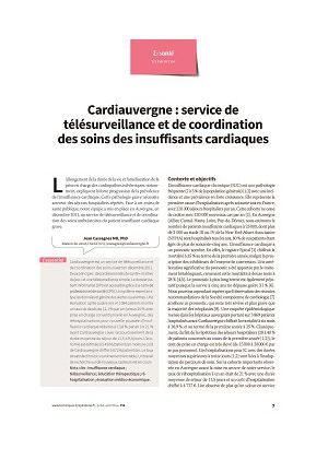 Cardiauvergne : service de télésurveillance et de coordination des soins des insuffisants cardiaques