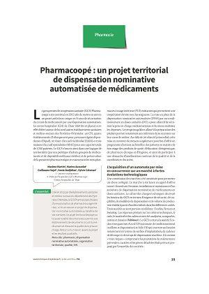 Pharmacoopé : un projet territorial de dispensation nominative automatisée de médicaments