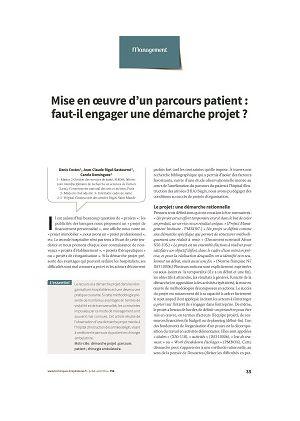 Mise en oeuvre d'un parcours patient : faut-il engager une démarche projet ?
