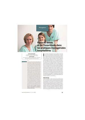 Place du doute et de l'incertitude dans les pratiques managériales hospitalières