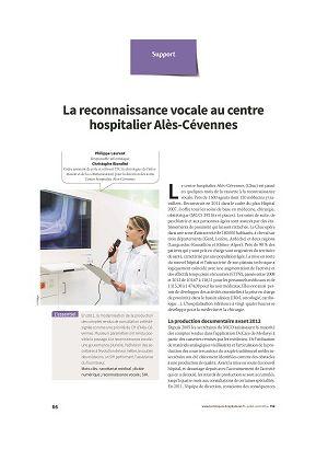 La reconnaissance vocale au centre hospitalier Alès-Cévennes