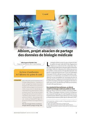 Albiom, projet alsacien de partage des données de biologie médicale