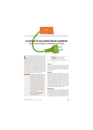 Le Green-IT au centre Oscar-Lambret : joindre la technologie au développement durable