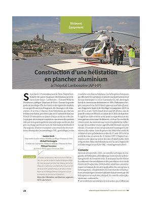 Construction d'une hélistation en plancher aluminium à l'hôpital Lariboisière (AP-HP)