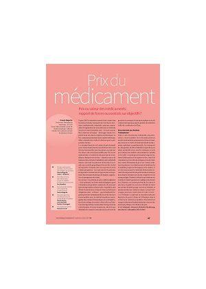 [accès libre] Prix ou valeur des médicaments : rapport de forces ou contrats sur objectifs ?