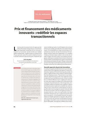 Prix et financement des médicaments innovants : redéfinir les espaces transactionnels