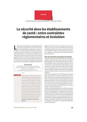 La sécurité dans les établissements de santé : entre contraintes réglementaires et évolution