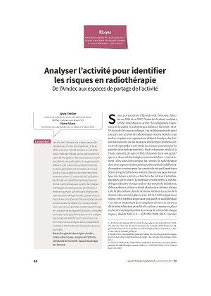 Analyser l'activité pour identifier les risques en radiothérapie : de l'Amdec aux espaces de partage de l'activité