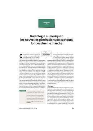 Radiologie numérique : les nouvelles générations de capteurs font évoluer le marché