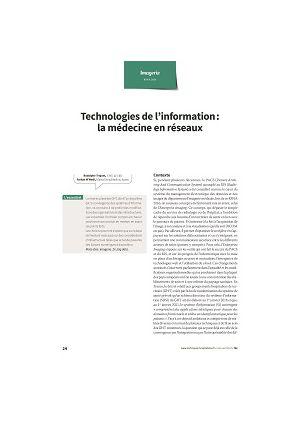 Technologies de l'information : la médecine en réseaux