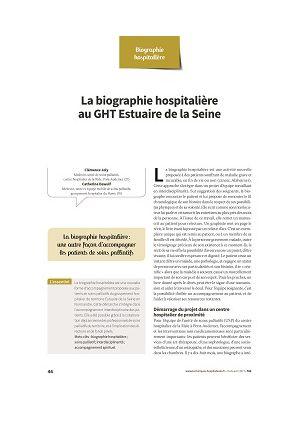 La biographie hospitalière : exemple du GHT Estuaire de la Seine (points de vue des médecins, directrice, biographe)