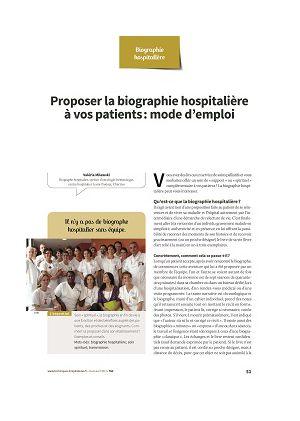 Proposer la biographie hospitalière à vos patients : mode d'emploi